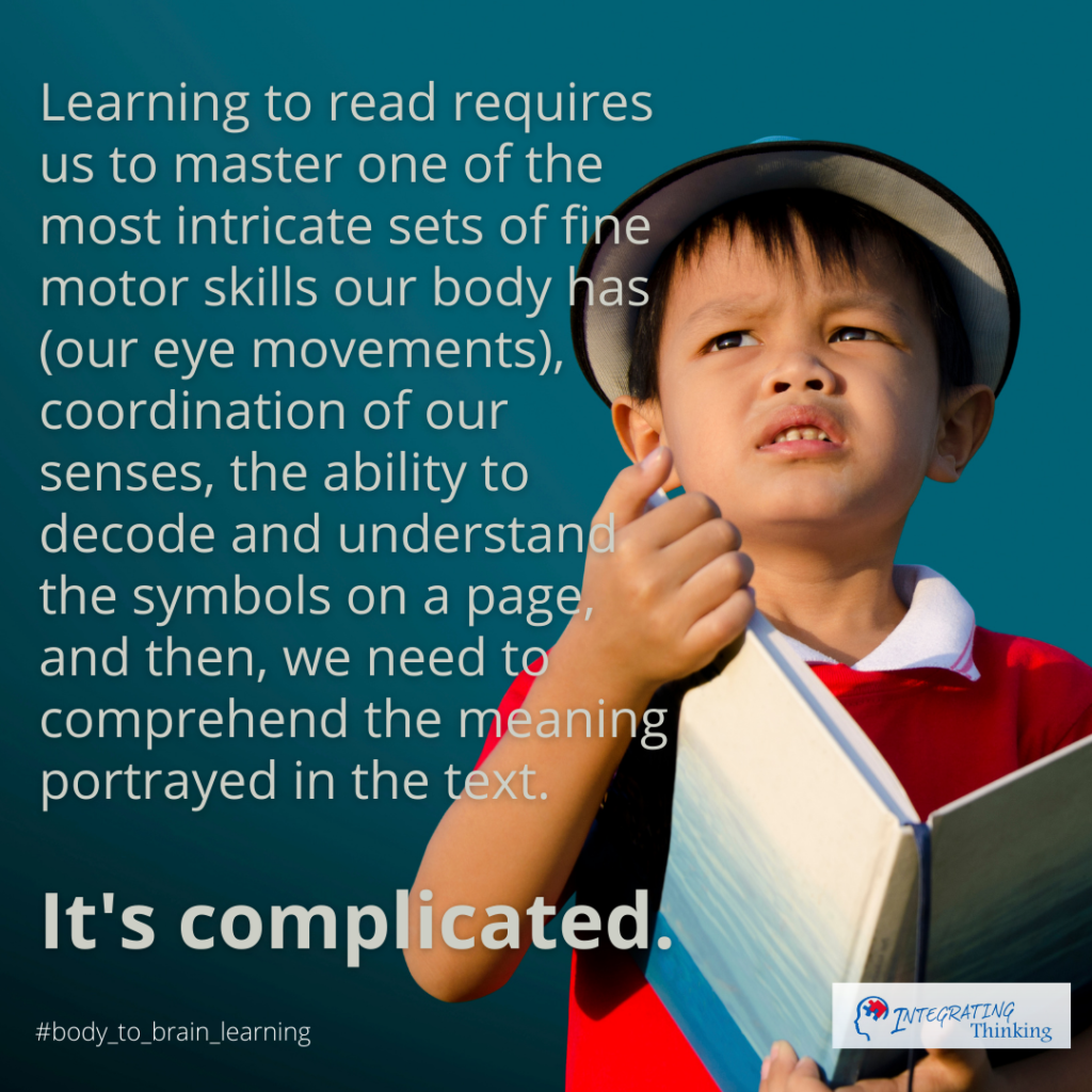 Learning to Read:  It's Complicated!